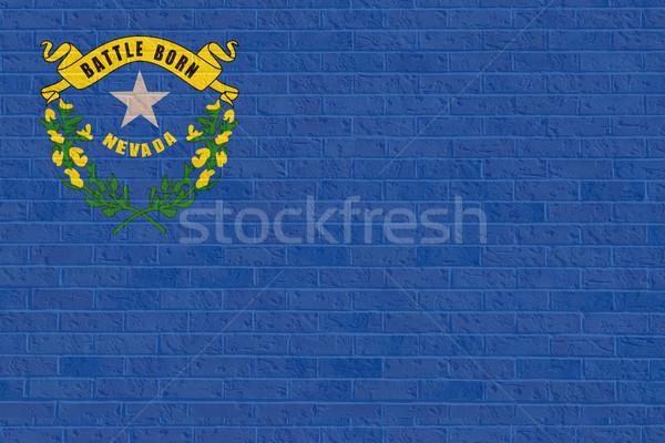Nevada zászló téglafal illusztráció Amerika Stock fotó © speedfighter