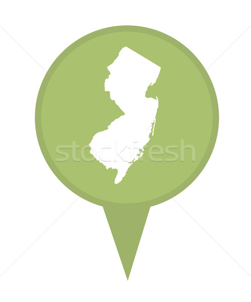 New Jersey kaart pin amerikaanse fiche geïsoleerd Stockfoto © speedfighter