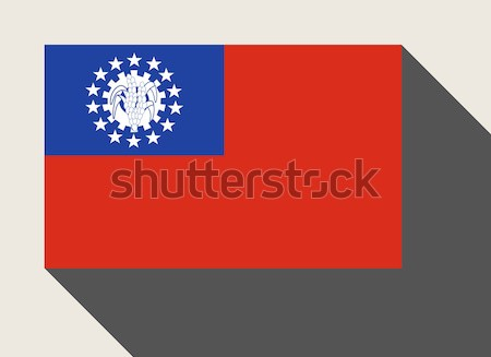 Мьянма флаг веб-дизайна стиль карта кнопки Сток-фото © speedfighter