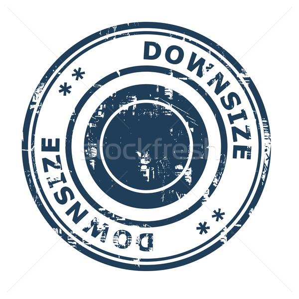 Downsize business concept rubber stamp Stock photo © speedfighter