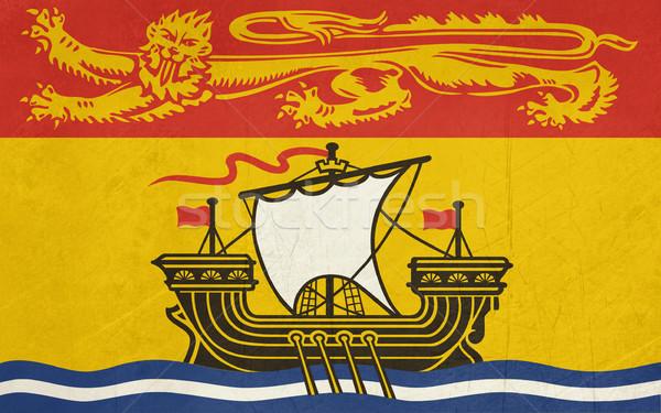 Grunge New Brunswick state flag Stock photo © speedfighter