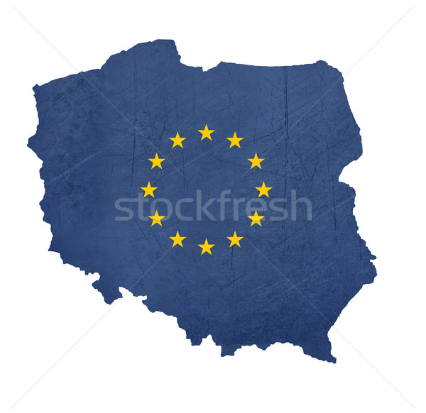 Européenne pavillon carte Pologne isolé blanche Photo stock © speedfighter