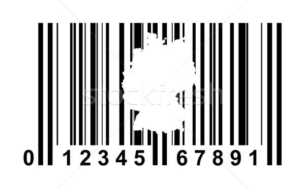 Alemanha código de barras compras isolado branco viajar Foto stock © speedfighter