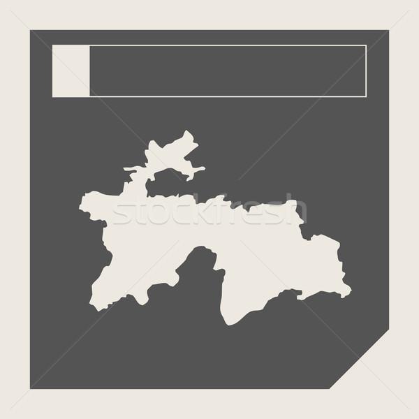 Таджикистан карта кнопки отзывчивый веб-дизайна изолированный Сток-фото © speedfighter