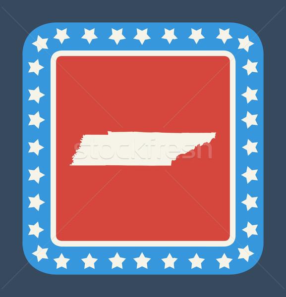 Tennessee przycisk amerykańską flagę web design stylu odizolowany Zdjęcia stock © speedfighter