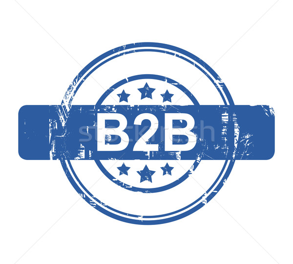 B2B business concept stamp Stock photo © speedfighter