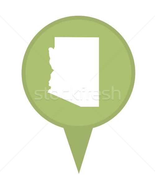 Arizona kaart pin amerikaanse fiche geïsoleerd Stockfoto © speedfighter