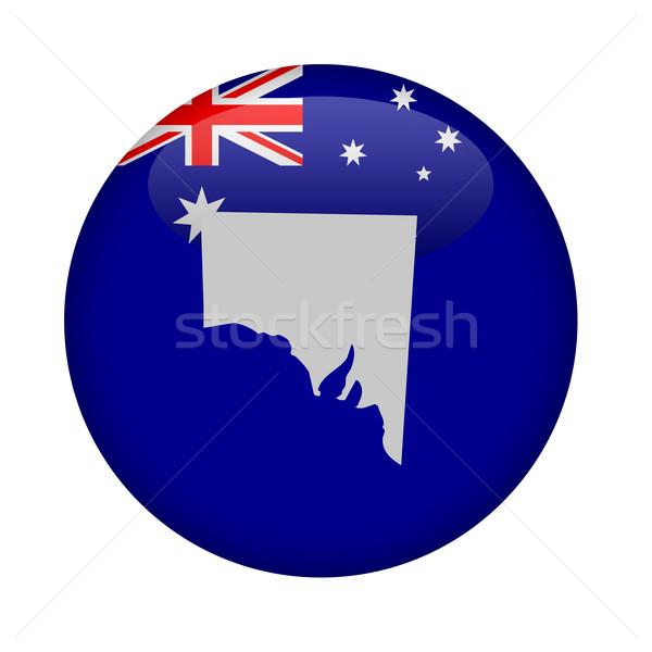Déli Ausztrália térkép gomb fehér Európa Stock fotó © speedfighter