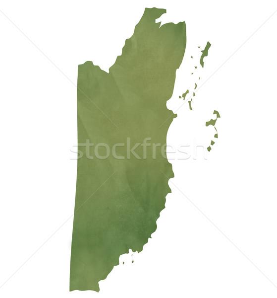öreg zöld papír térkép Belize izolált Stock fotó © speedfighter