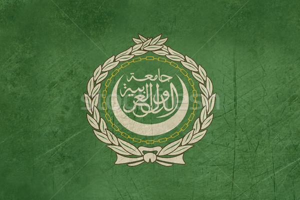 Grunge bandeira Árabe liga ilustração projeto Foto stock © speedfighter