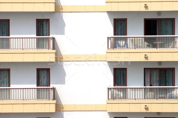 Balconies on hotel building Stock photo © speedfighter