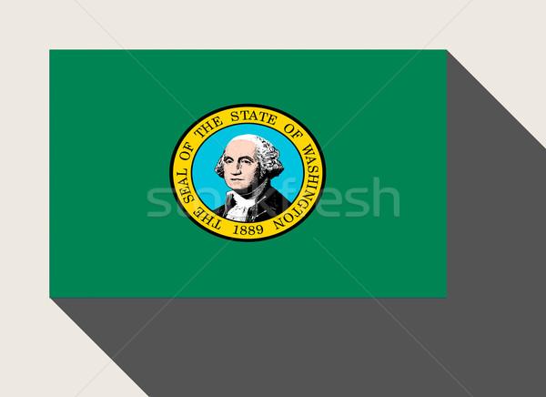 американский Вашингтон флаг веб-дизайна стиль кнопки Сток-фото © speedfighter