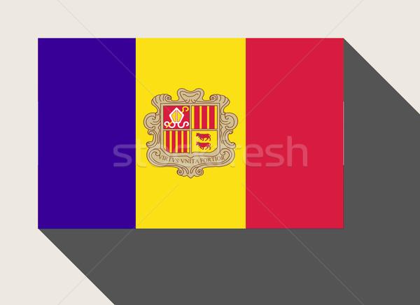 Andorra vlag web design stijl knop Stockfoto © speedfighter