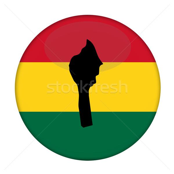 Benin mappa bandiera pulsante bianco business Foto d'archivio © speedfighter