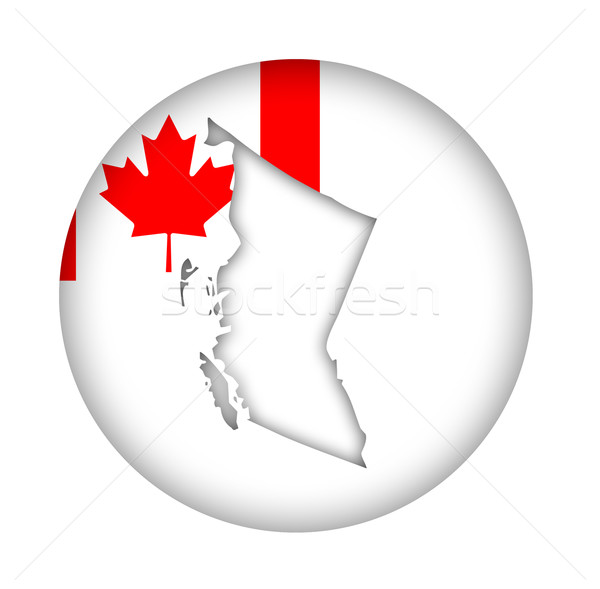 Canada British Columbia map flag button Stock photo © speedfighter