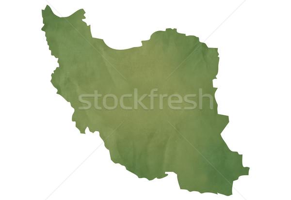 Old green map of Iran Stock photo © speedfighter