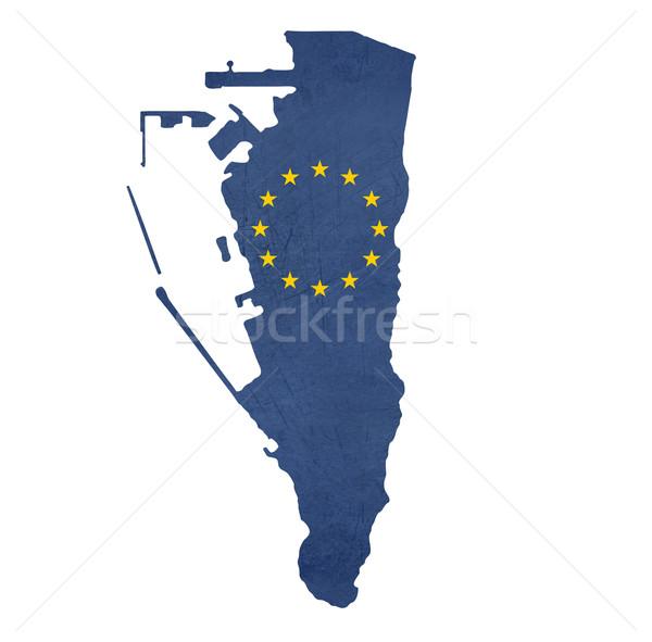 Europejski banderą Pokaż gibraltar odizolowany biały Zdjęcia stock © speedfighter