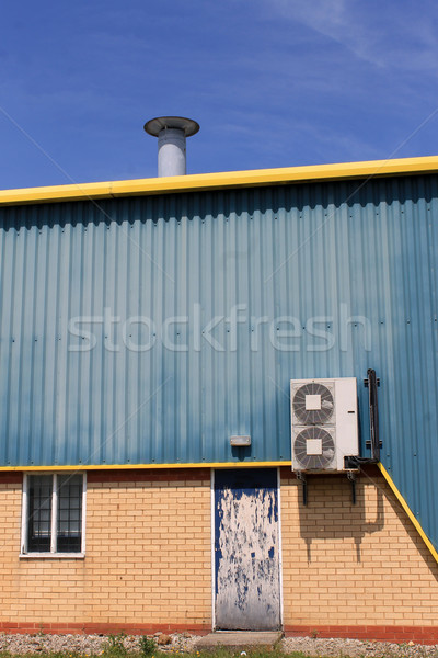Air conditioning unit on warehouse Stock photo © speedfighter