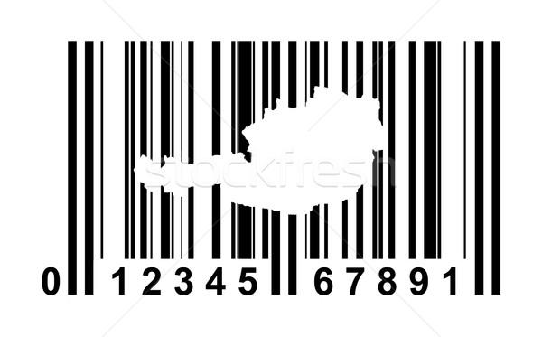 Oostenrijk streepjescode winkelen geïsoleerd witte business Stockfoto © speedfighter