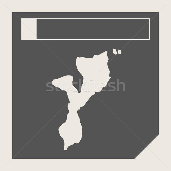 Moçambique mapa botão responsivo web design isolado Foto stock © speedfighter