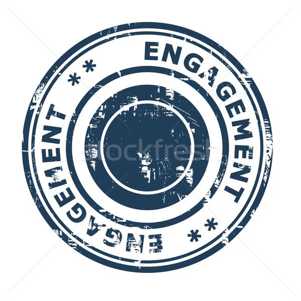 Compromisso negócio isolado branco azul Foto stock © speedfighter