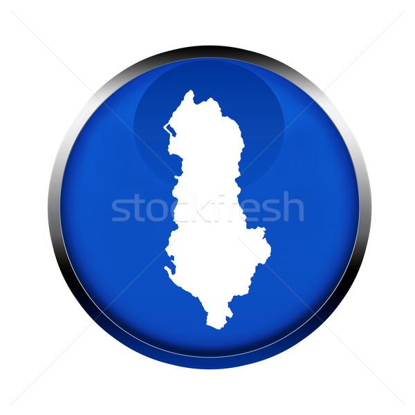 Albania mapa botón color europeo bandera Foto stock © speedfighter