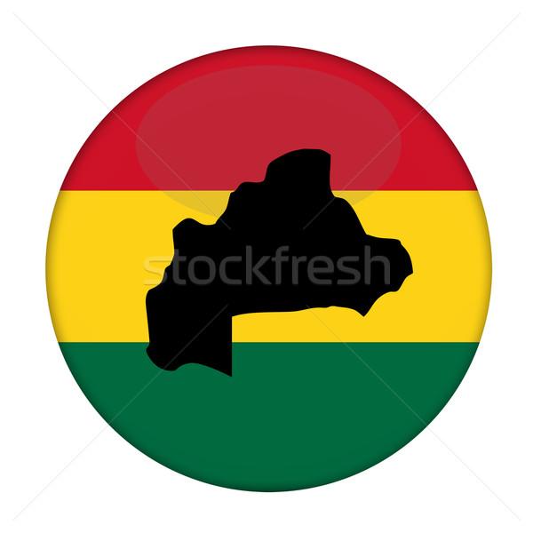 Stock fotó: Burkina · térkép · zászló · gomb · fehér · üzlet