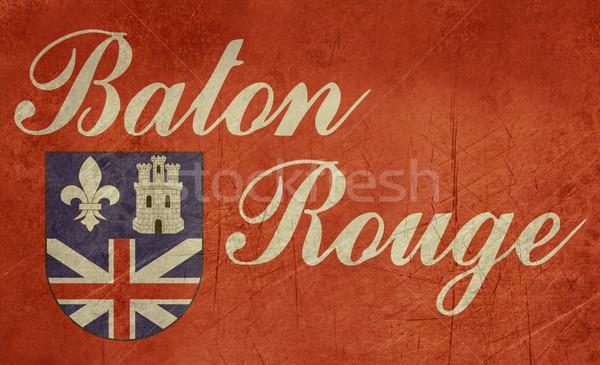 Grunge Baton Rouge flag Stock photo © speedfighter