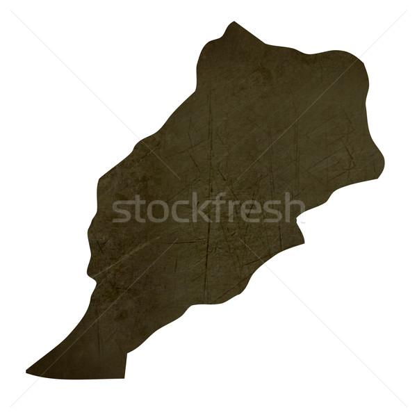 Escuro mapa Marrocos isolado branco Foto stock © speedfighter