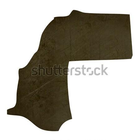 Karanlık harita batı sahara yalıtılmış Stok fotoğraf © speedfighter