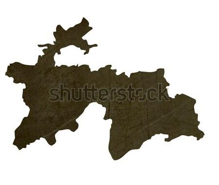 Sötét térkép Tádzsikisztán mintázott izolált fehér Stock fotó © speedfighter