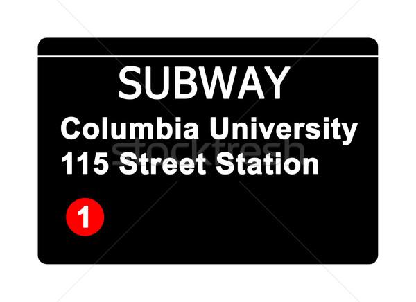 Columbia University 115 Street Station subway sign Stock photo © speedfighter