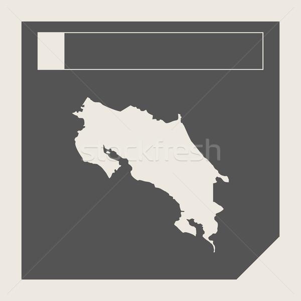 Costa Rica mapa botón sensible diseno web aislado Foto stock © speedfighter