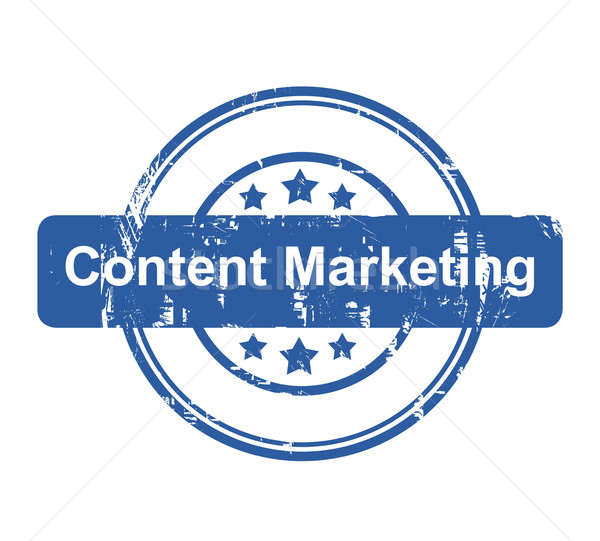 Content Marketing business concept stamp Stock photo © speedfighter