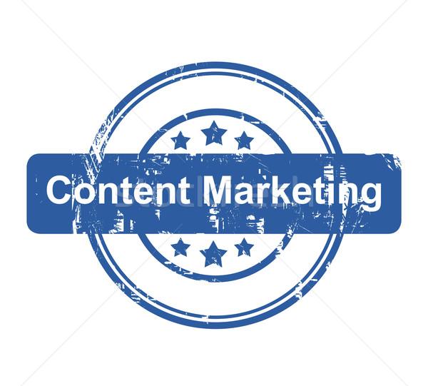 Contenu marketing affaires tampon étoiles isolé Photo stock © speedfighter