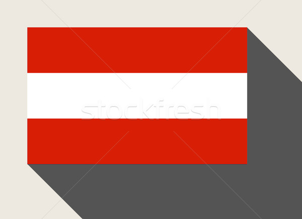 Áustria bandeira web design estilo botão Foto stock © speedfighter
