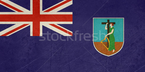 Stock photo: Grunge Montserrat Flag