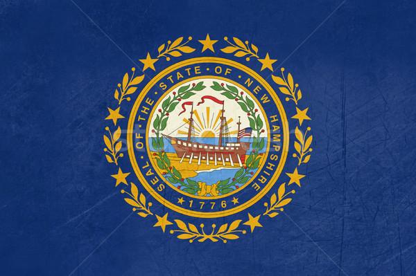 Grunge New Hampshire vlag amerika geïsoleerd witte Stockfoto © speedfighter