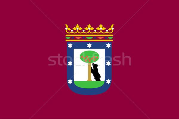 Мадрид город флаг Испания фон баннер Сток-фото © speedfighter