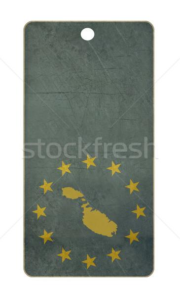 Zdjęcia stock: Malta · podróży · tag · odizolowany · biały · kopia · przestrzeń