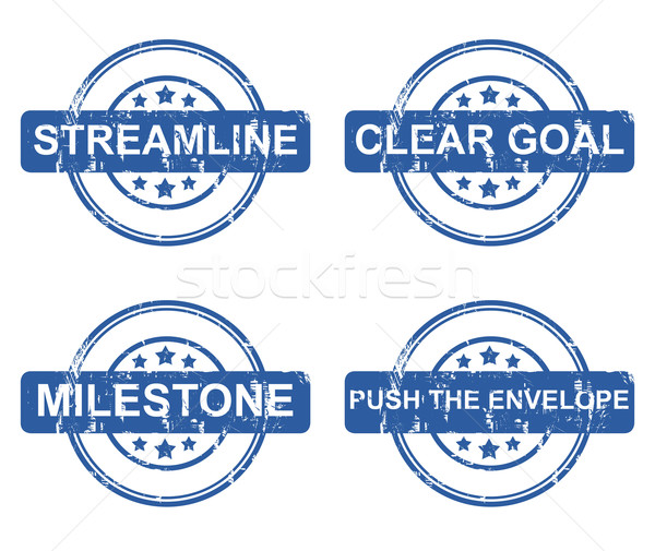 Set of four business concept stamps Stock photo © speedfighter
