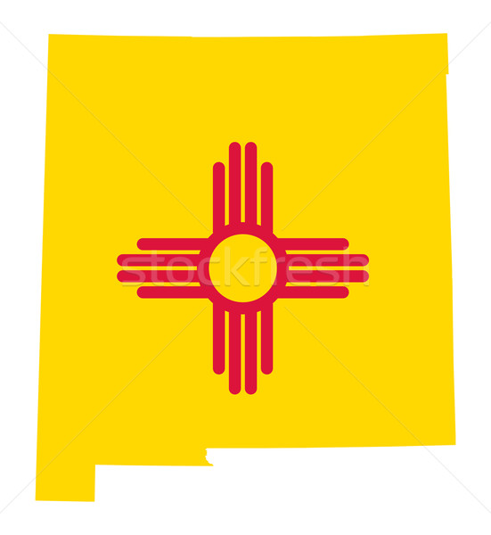 State of New Mexico flag map Stock photo © speedfighter