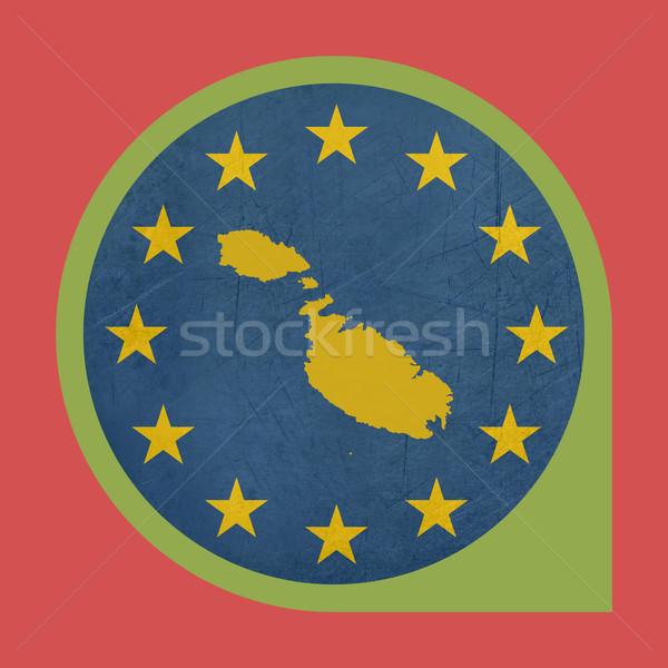 Europeo Unión Malta marcador botón aislado Foto stock © speedfighter