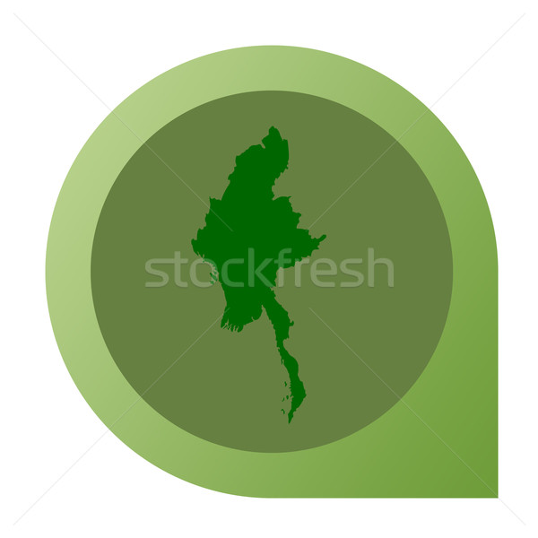 Isolated Myanmar map marker pin Stock photo © speedfighter