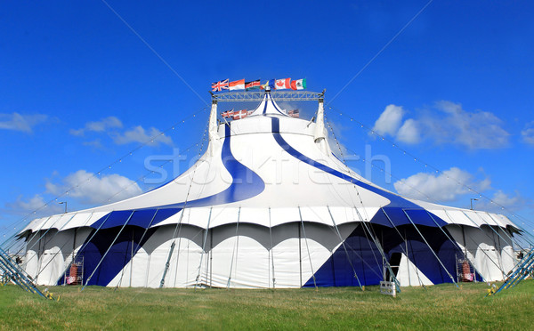 Circus tent in a field Stock photo © speedfighter