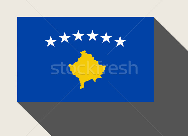 Kosovo pavillon web design style carte bouton Photo stock © speedfighter