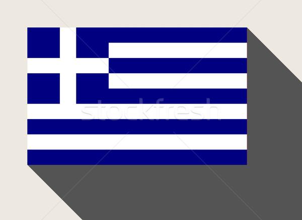 Görögország zászló web design stílus térkép gomb Stock fotó © speedfighter