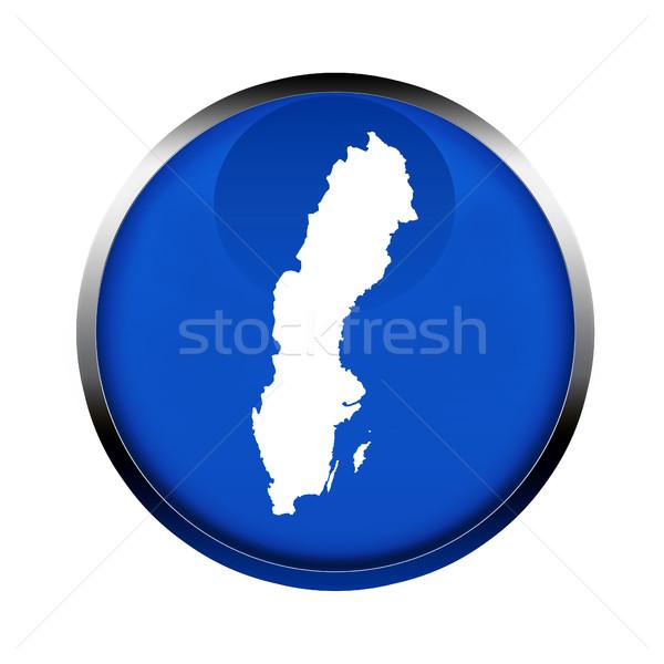 Szwecja Pokaż przycisk kolory europejski Unii Zdjęcia stock © speedfighter