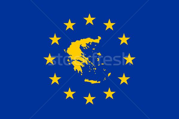 Greece European flag Stock photo © speedfighter