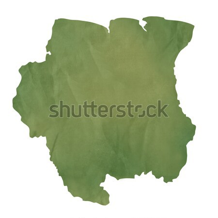 Old green paper map of French Guina Stock photo © speedfighter